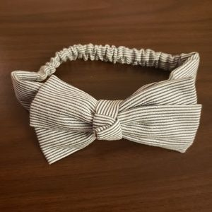 **5 for $15** Baby Girl Striped Bow Headband